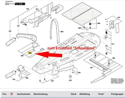 Schneidrad für den Bosch PTC 640